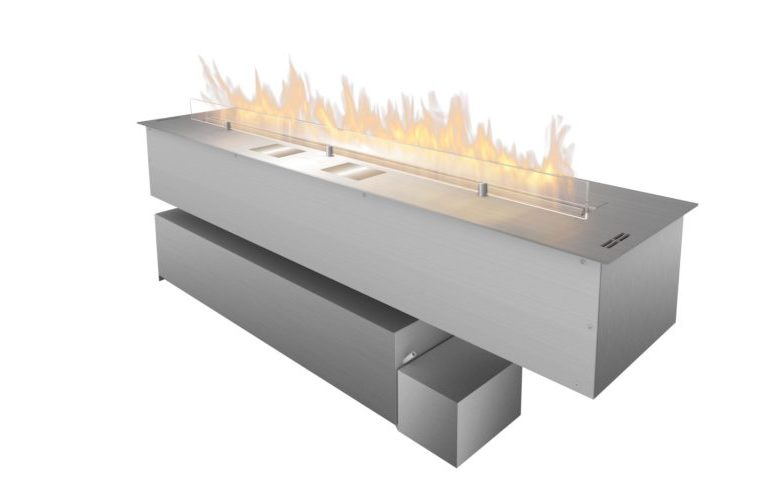 Bioethanol fireplace insert / remote-controlled / custom