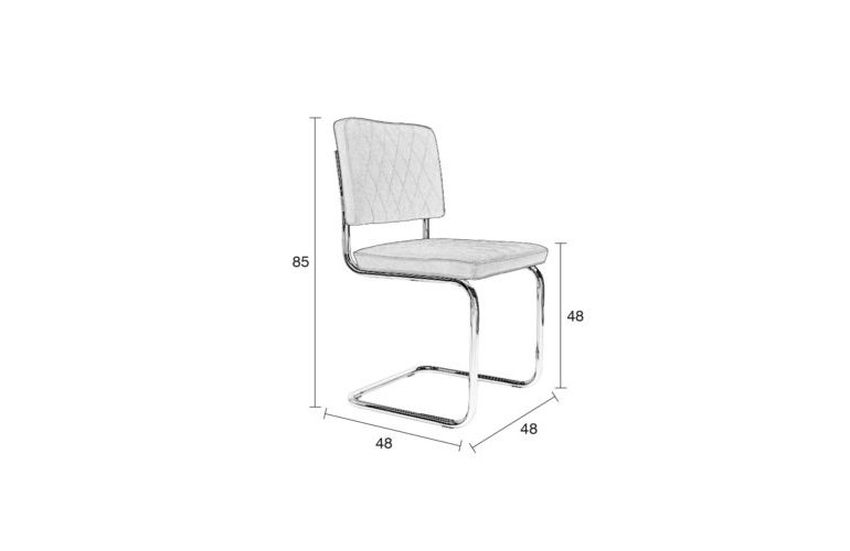 Diamond-chair-size