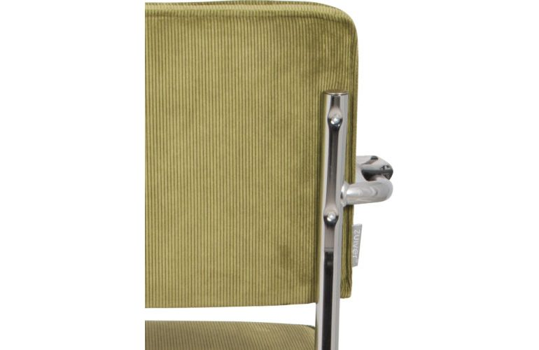 Ridge-Kink-Rib-armchair-green-back-detail