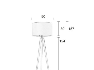 Tripod-floor-lamp-size