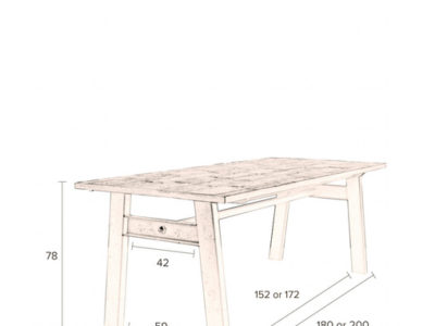 Crude-table-dimensions