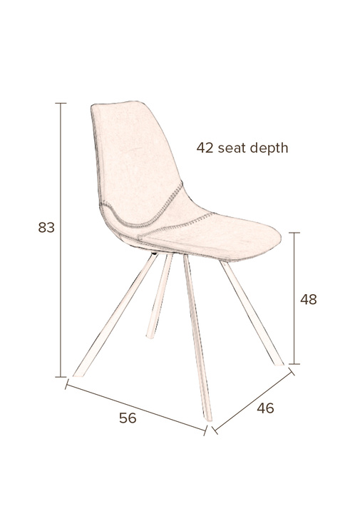 Franky-chair-dimensions