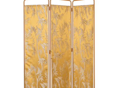 bold_monkey_kiss_the_froggy_room_divider_yellow_birds_print_5